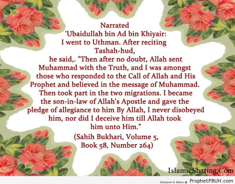 sahih bukhari volume 5 book 58 number 264