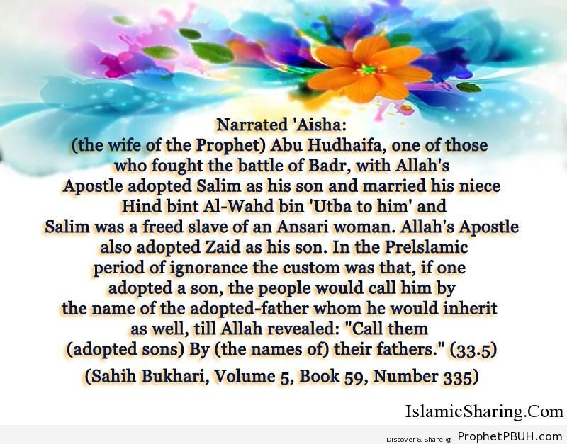 sahih bukhari volume 5 book 59 number 335