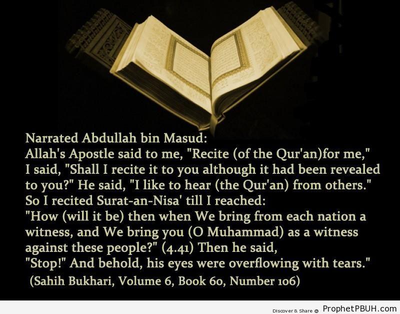 sahih bukhari volume 6 book 60 number 106