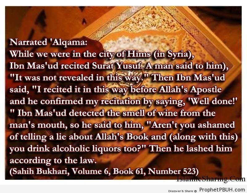 sahih bukhari volume 6 book 61 number 523