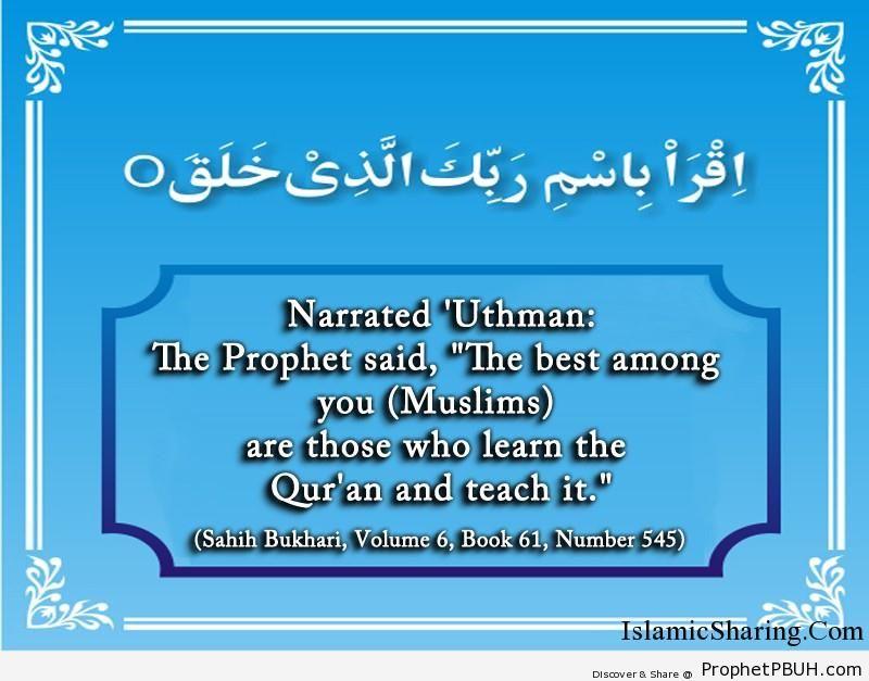 sahih bukhari volume 6 book 61 number 545