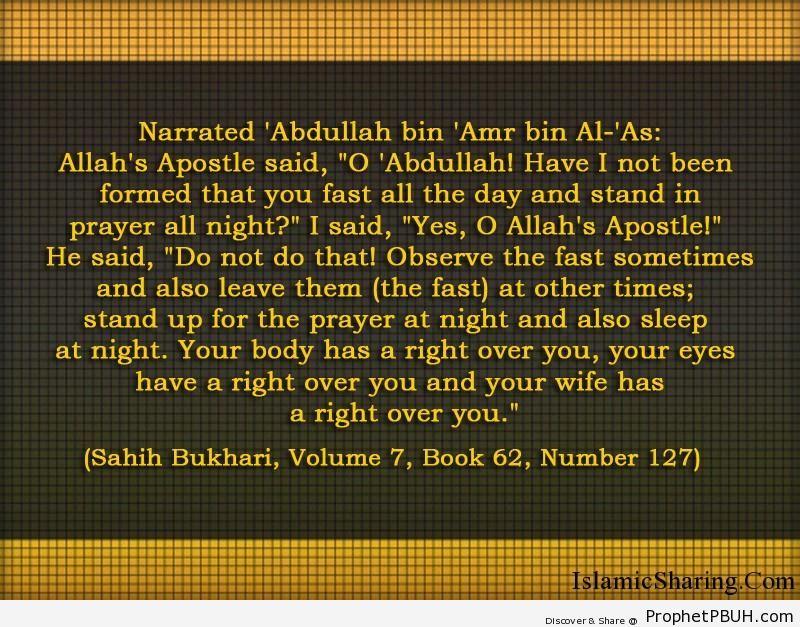 sahih bukhari volume 7 book 62 number 127