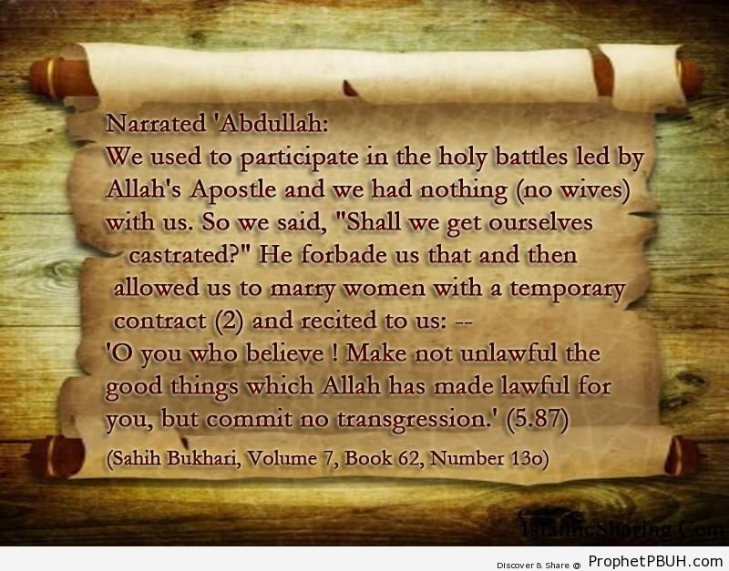sahih bukhari volume 7 book 62 number 13o