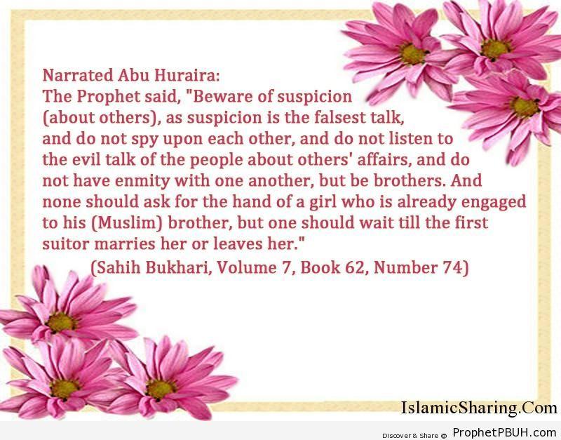 sahih bukhari volume 7 book 62 number 74