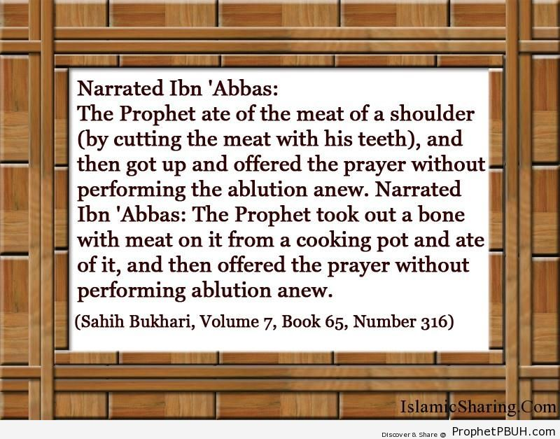 sahih bukhari volume 7 book 65 number 316