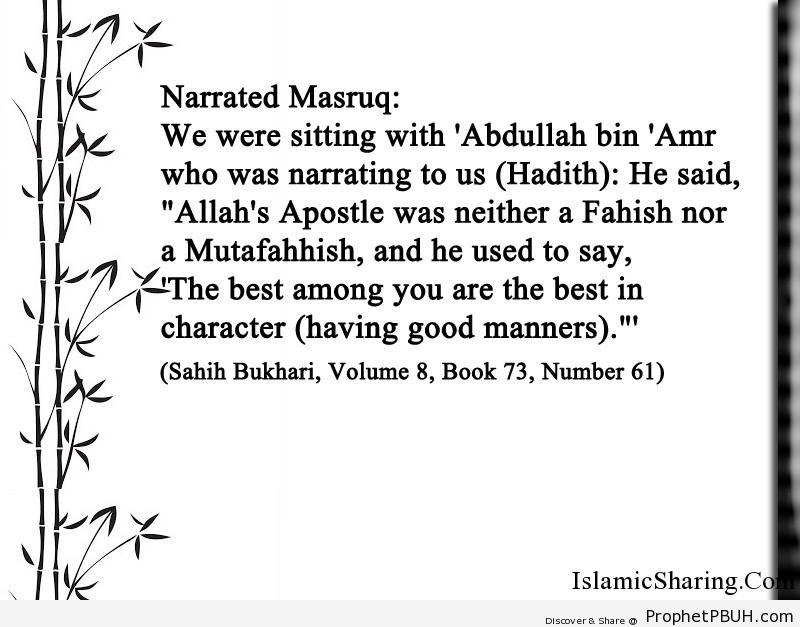 sahih bukhari volume 8 book 73 number 61