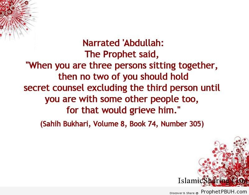 sahih bukhari volume 8 book 74 number 305