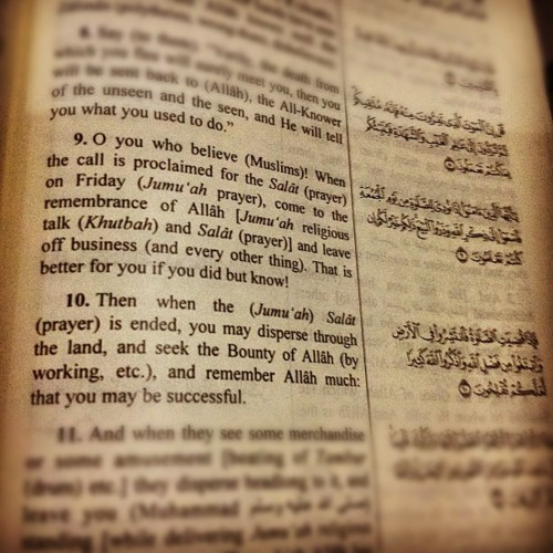 Quranic Verse on Friday Prayers