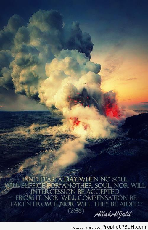 A day to fear Shared viaA AllahAlJalil - Islamic Quotes, Hadiths, Duas
