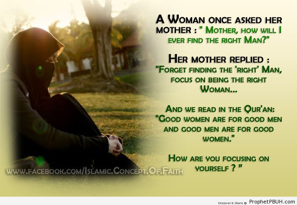 A right man - Islamic Quotes, Hadiths, Duas