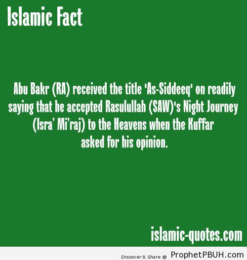 Abu Bakar as-Siddiq - Islamic Quotes, Hadiths, Duas