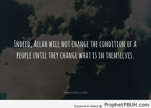 Al-Quran [13-11] - Islamic Quotes, Hadiths, Duas