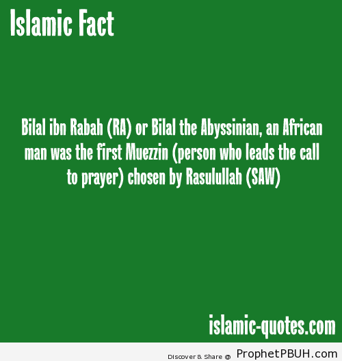 Bilal bin Rabah - Islamic Quotes, Hadiths, Duas