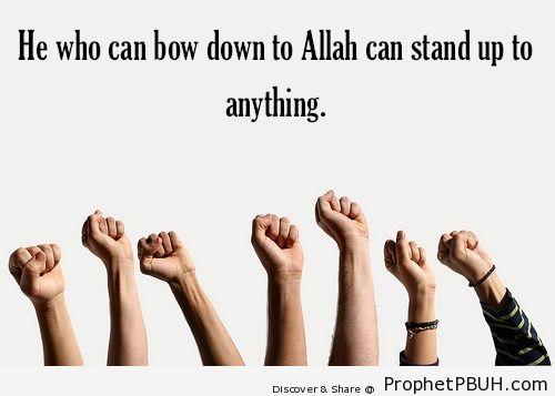 Bow down to Allah - Islamic Quotes, Hadiths, Duas
