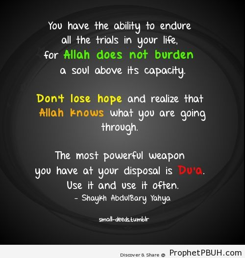 Dont lose hope - Islamic Quotes, Hadiths, Duas