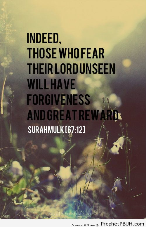Forgiveness and reward - Islamic Quotes, Hadiths, Duas