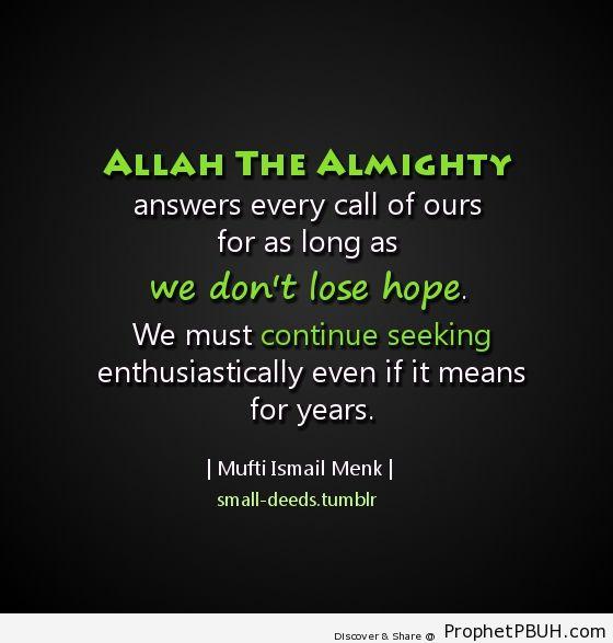 Hope - Islamic Quotes, Hadiths, Duas
