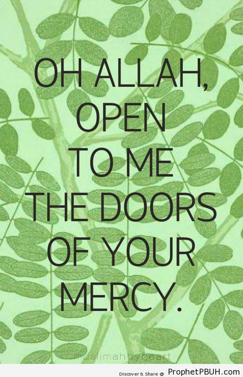 Mercy - Islamic Quotes, Hadiths, Duas
