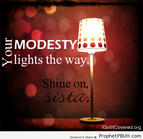 Modesty - Islamic Quotes, Hadiths, Duas