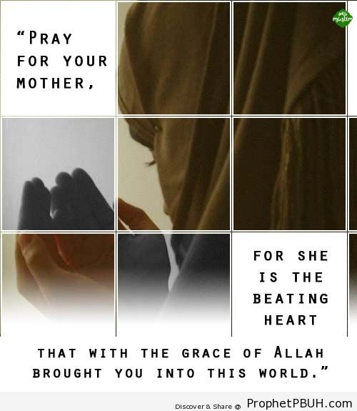 Mother Shared via AkuMuslim - Islamic Quotes, Hadiths, Duas