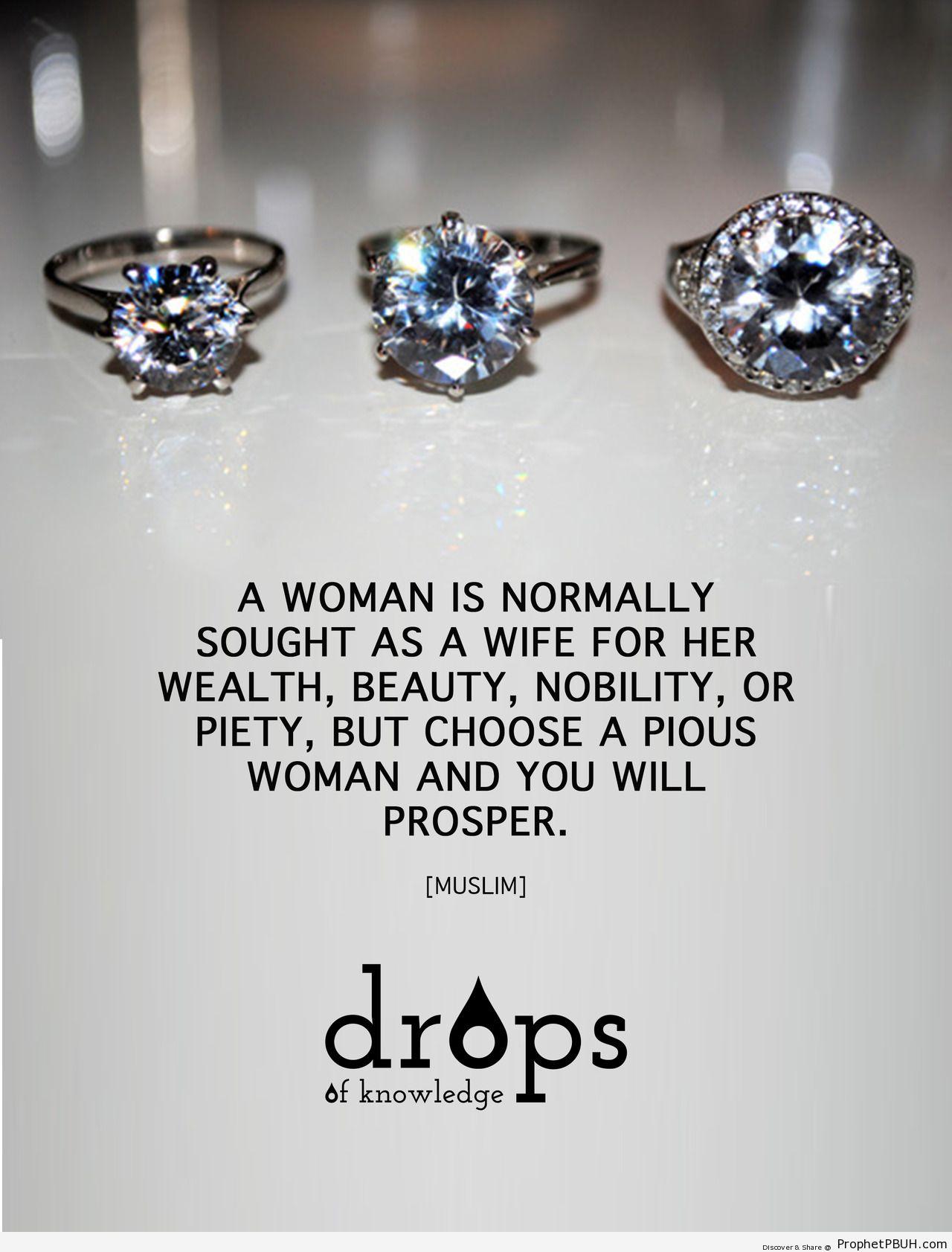 Pious woman - Islamic Quotes, Hadiths, Duas