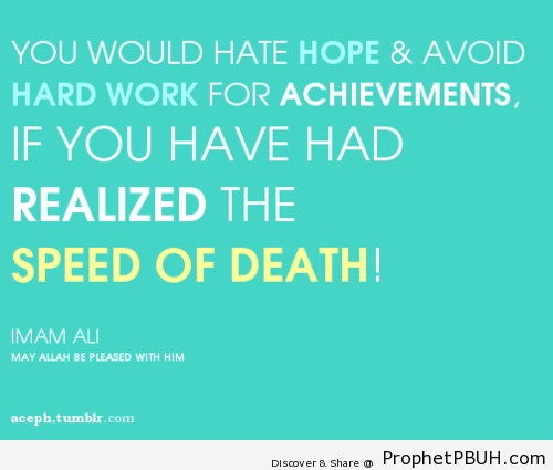 Speed of death! - Islamic Quotes, Hadiths, Duas