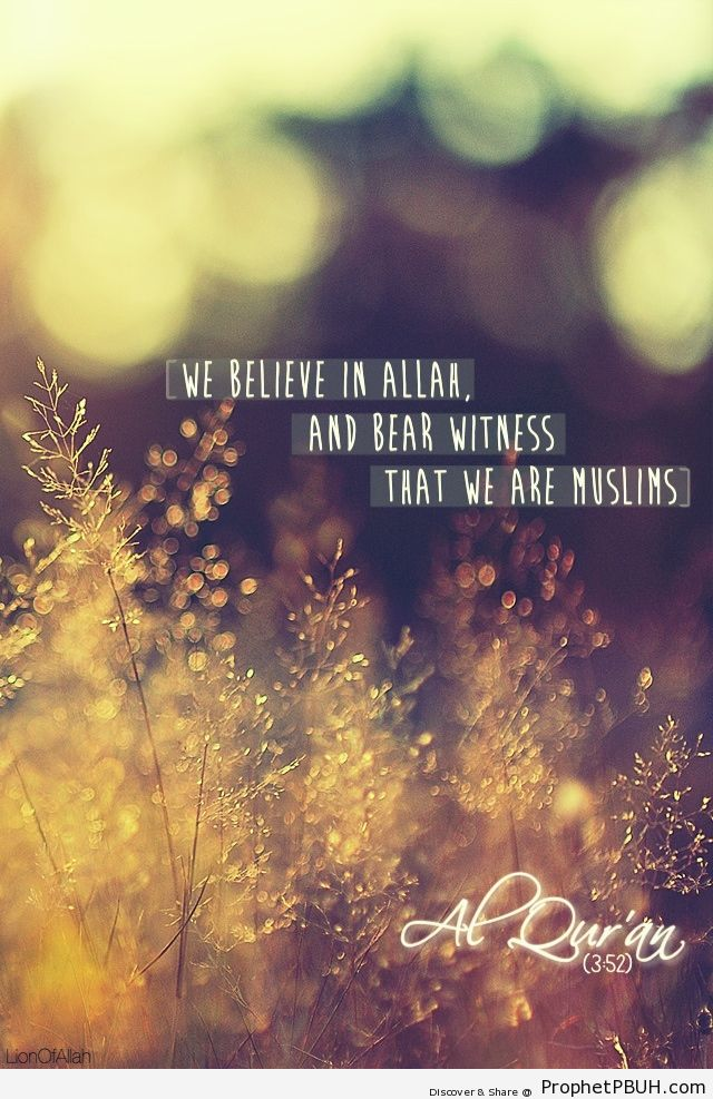We believe - Islamic Quotes, Hadiths, Duas