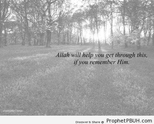 surely He will, if you remember Him. - Islamic Quotes, Hadiths, Duas