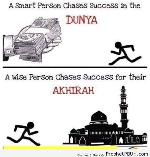 Success in Akhirah is the true Success of Dunya.