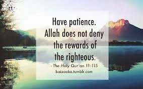 Quranic Verse on Being Patient and its Reward...