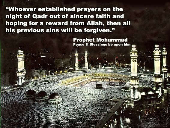 Hadith about blessings of Night of Qadr
