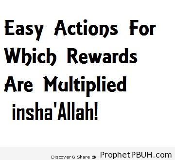Easy Actions For Which Rewards Are Multiplied