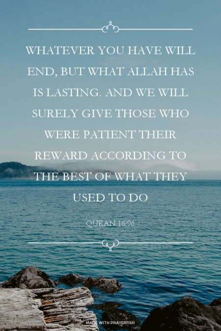 Verse on Being Patient and its Reward by Allah SWT