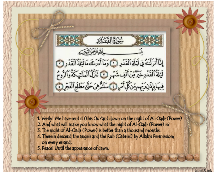 Surah Al Qadr with English Translation