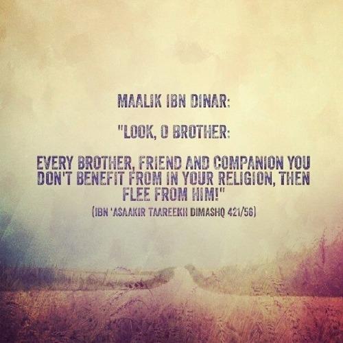 Advice from Maalik Ibn Dinar