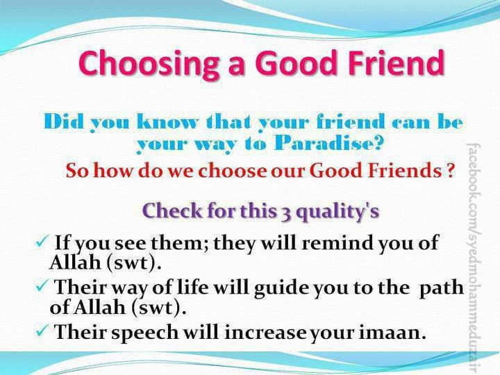 Choosing a good friend