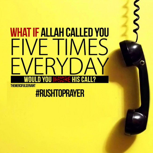 Praying Five Times Daily