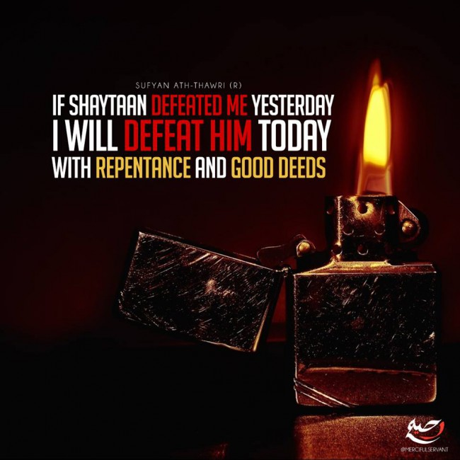 Defeat Shaytaan with Repentance and Good Deeds