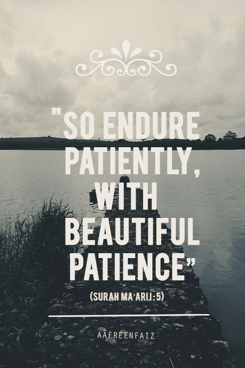 Patience...