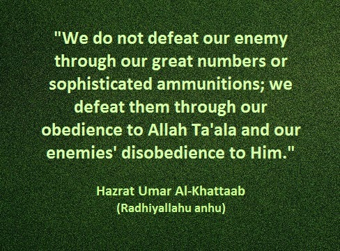 Defeating our enemies