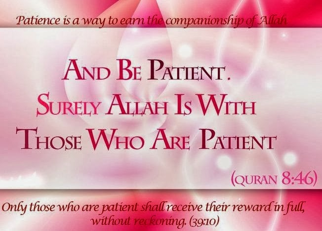 Allah SWT is with the Patient