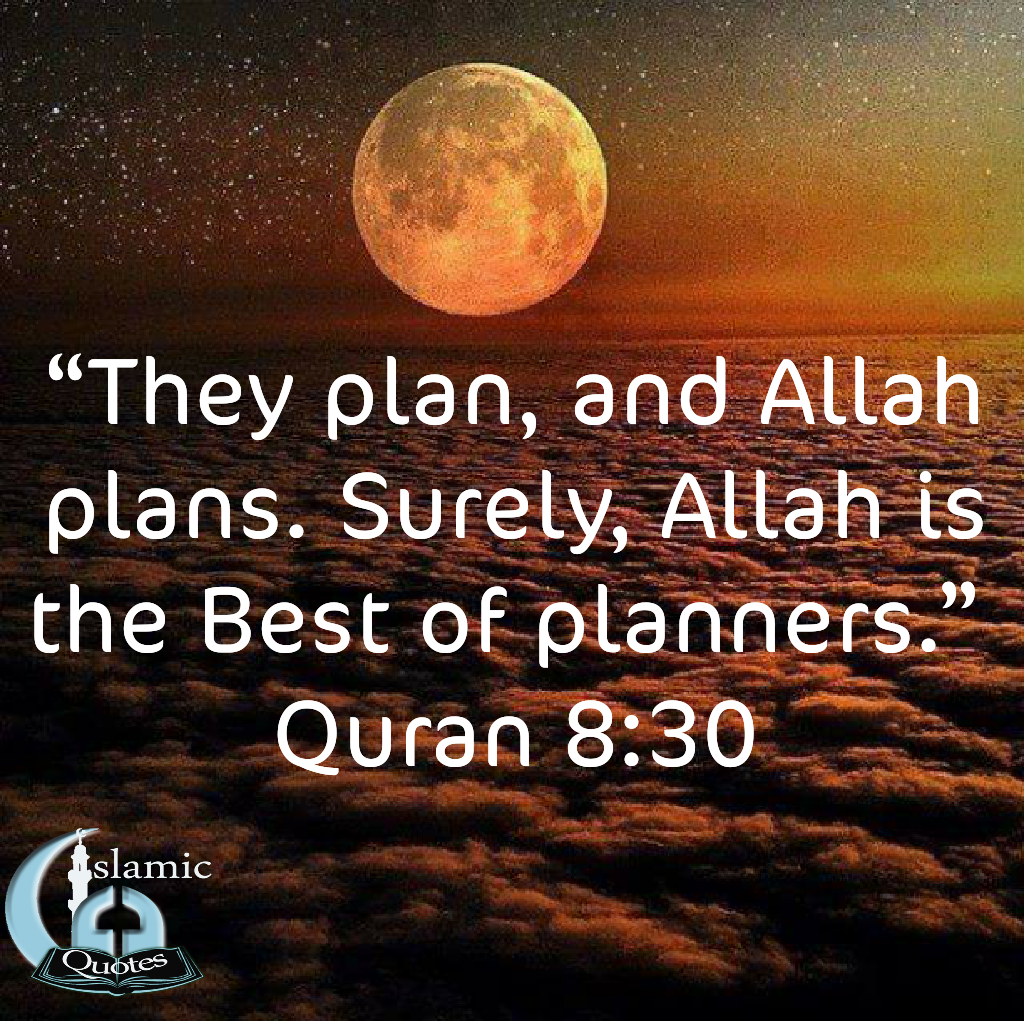 Allah SWT best of planners