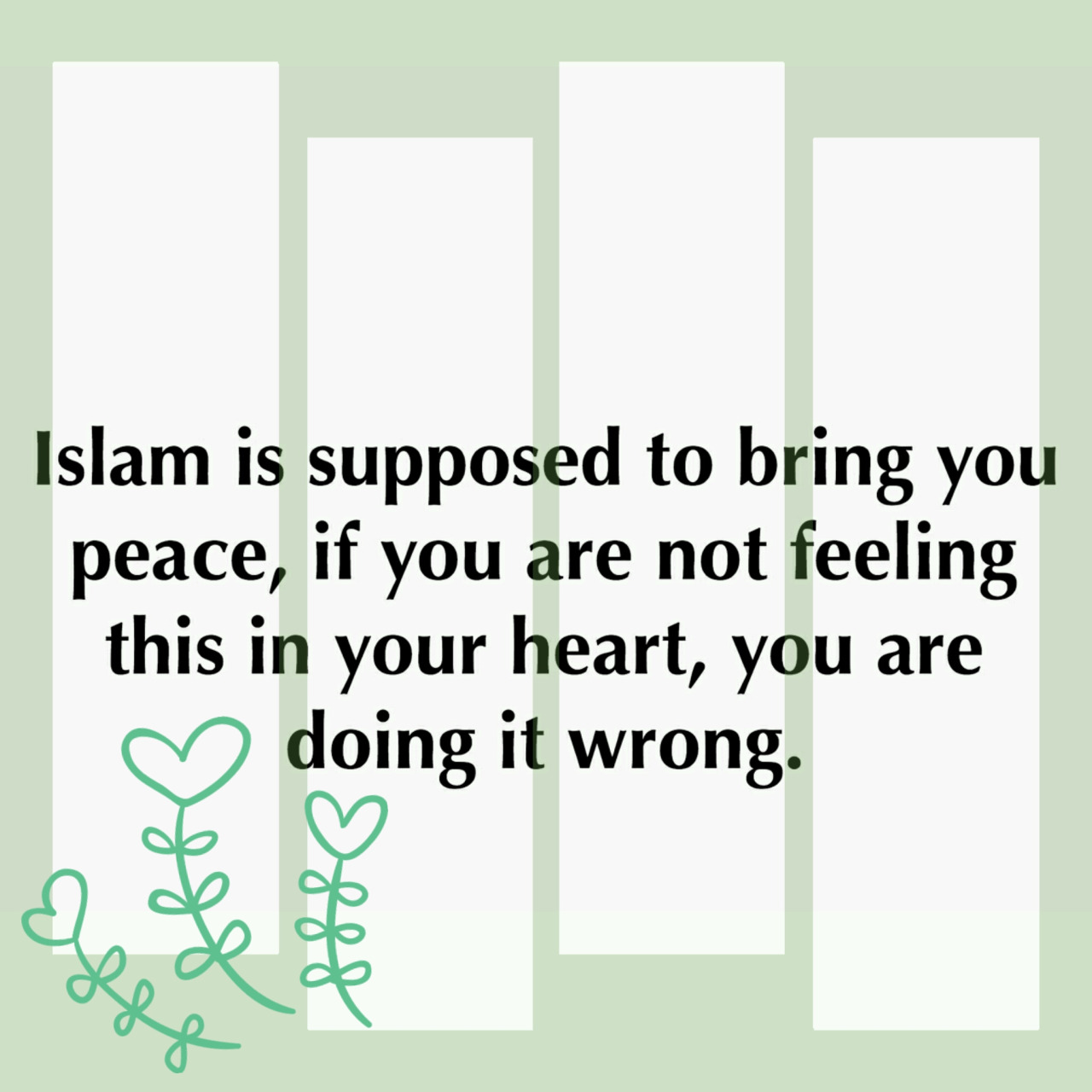 Islam brings peace
