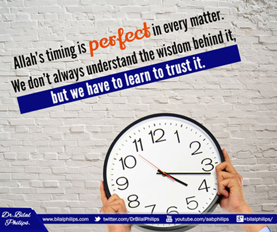 Allah's timing is perfect
