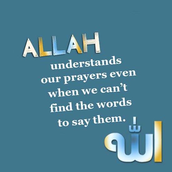 Allah SWT understands