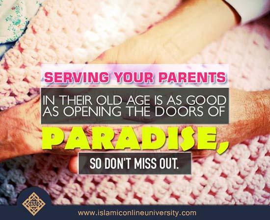 Serving Parents and Paradise
