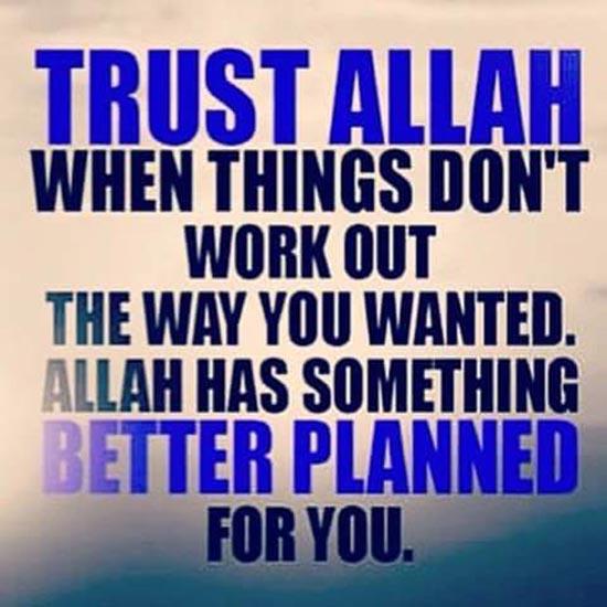 Trust Allah SWT