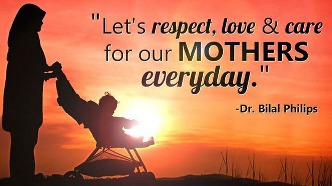Respect, love and care for Mothers everyday