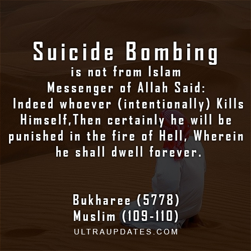 Suicide Bombing is not from Islam