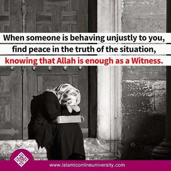 Allah is enough as a witness